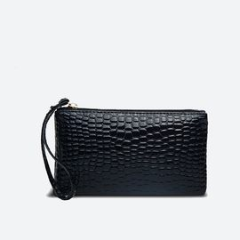 VOCCUE 秋冬鳄鱼纹女 士手拿包韩版 拉链包手机包钱包钥匙包v2003001-2