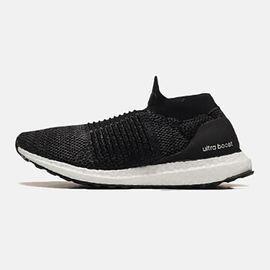 阿迪达斯 adidas男女同款跑步鞋ULTRABOOST LACELESS休闲运动鞋BB6311黑色+灰色