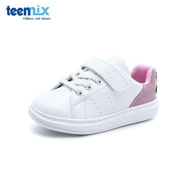 Teenmix/天美意 童鞋儿童休闲鞋2018秋季新款女童经典小白鞋中大童运动鞋DX0411