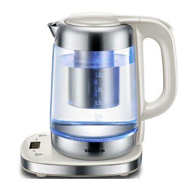 小熊 玻璃电热水壶 防干烧电水壶 全自动控温电烧水壶 ZDH-A17J1