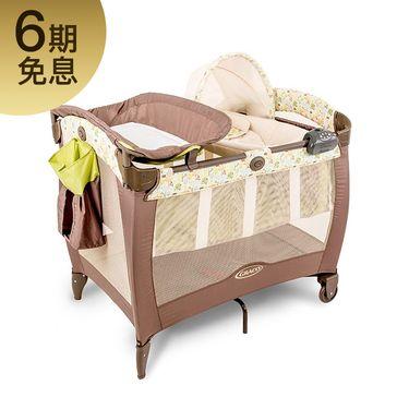 GRACO/葛莱 卡尔恩系列9D59可折叠婴儿床便携多功能游戏床宝宝BB摇篮床无漆带滚轮 母婴分期