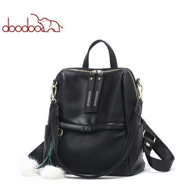 doodoo 2018新款韩版复古双肩背包百搭书包旅行女包 D8738