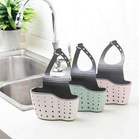 优芬 创意水槽挂袋 厨房置物架水龙头水槽收纳篮收纳挂篮海绵架 1个