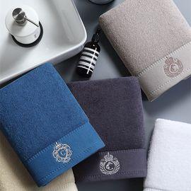 康尔馨 五星级酒店毛巾纯棉加大洗脸面巾家用成人吸水柔软2条装