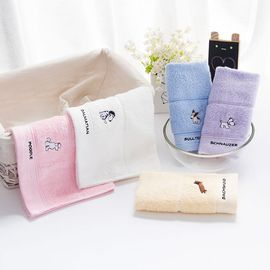 洁丽雅 纯棉卡通提花儿童毛巾3条装 颜色随机