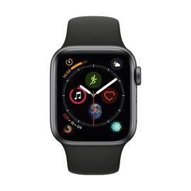 Apple/苹果  watch Series4智能手表(GPS款 44毫米深空灰色铝金属表壳黑色运动型表带 MU6D2CH/A)