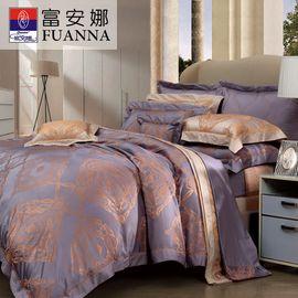 富安娜 里德尔简约欧式风格高雅提花床单四件套1.5米床