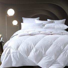 康尔馨 五星级酒店羽绒被90白鹅绒子母被加厚被子冬被双人被芯春秋 90白鹅绒 舒适透气 丝柔触感 子母被设计