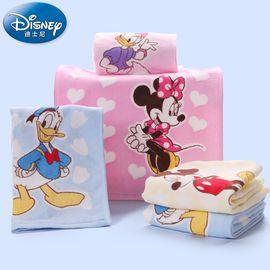 DISNEY 迪士尼米奇纯棉2条装卡通儿童宝宝洗脸吸水小毛巾