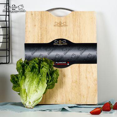 2 LIONS SABATIER INTERNATIONAL 赛巴迪 天然橡胶木加厚砧板案板家用菜板切菜板大砧板