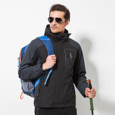 DZRZVD/杜戛地 新款户外秋冬新款户外冲锋衣男潮牌三合一两件套防风保暖外套DA9808601