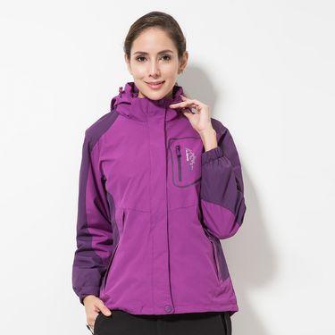 DZRZVD/杜戛地 新款户外秋冬新款户 外冲锋衣女款潮牌三合一两件套防风保暖外套DA9808702