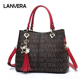 LANVERA  朗薇欧美时尚包包女新款单肩斜挎女包 潮流PVC女士手提包L5028-1