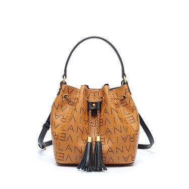 LANVERA 欧美时尚女包新款PVC配皮女包水桶子母单肩斜跨包L7662-1