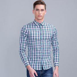SEPTWOLVES 七匹狼长袖衬衫格子 时尚商务休闲长衬衣男111710502726