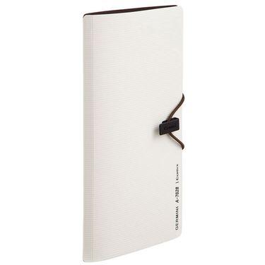 齐心 (Comix) A7628 30枚便携式名片册/卡片册 蓝色 Germini系列