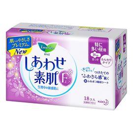 花王 乐而雅(laurier)F系列 进口卫生巾 量多日用25cm*18片 棉柔透气 贴身瞬吸 日本进口