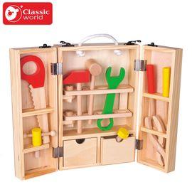 可来赛 仿真工具箱套装过家家玩具3-6周岁男孩益智拆装木制工具台