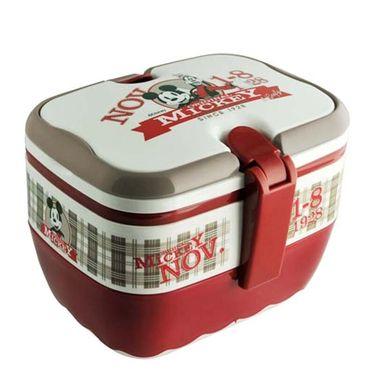 迪士尼 米奇苏格兰双层餐盒 便携式卡通饭盒 DSM-5024