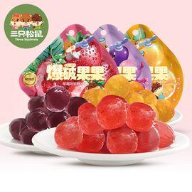 三只松鼠 爆破果果 草莓味软糖 40克