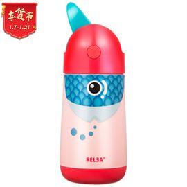 物生物 飞鸟儿童保温杯吸管杯不锈钢男女学生卡通水杯宝宝便携水壶