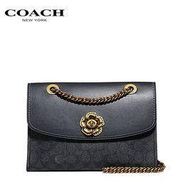 COACH 【预售】COACH 蔻驰女包 专柜款皮质手提单肩斜挎小方包PVC配皮 多色可选 洲际速买
