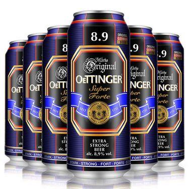 【易购】德国原装进口 奥丁格8.9度啤酒500ML*6连包