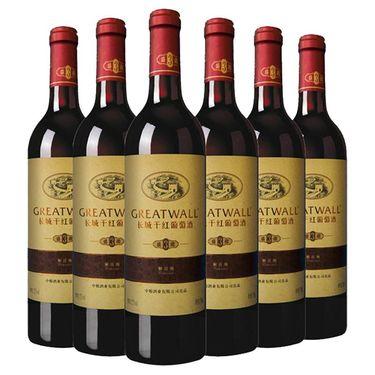 【易购】中粮长城华夏盛藏3解百纳干红葡萄酒750ml*6(整箱装)红酒
