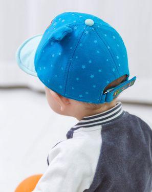柠檬宝宝【唯品会】Lemonkid 2018年春季新款儿童帽子 卡通点点软帽檐 舒适透气遮阳帽