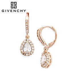 Givenchy/纪梵希 优雅玫瑰金色水滴仿水晶女士耳坠 60376634