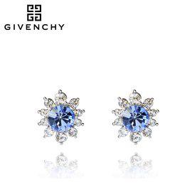Givenchy/纪梵希 花语系列浅蓝色仿水晶女士耳钉 60450977