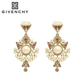 Givenchy/纪梵希 时尚典雅系列仿珍珠 施华洛世奇人造水晶女士耳坠 金色