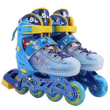 DISNEY 迪士尼溜冰鞋儿童全套装3-5-6-8-10岁初学者旱冰直排轮滑鞋DCB81298-D8