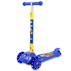 DISNEY 迪士尼儿童滑板车四轮闪光摇摆车可折叠升降脚踏车米奇DCA71106-A
