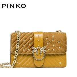 PINKO /品高 LOVE 女士时尚单肩包  燕子包 青铜色 洲际速买