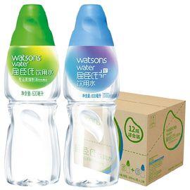 屈臣氏 (Watsons) 饮用水(蒸馏制法)600ml*12混合装 整箱装