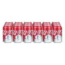 可口可乐 Coca-Cola 汽水 碳酸饮料 330ml*24罐 整箱装 可口可乐公司出品 新老包装随机发货