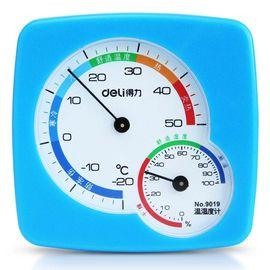 【易购】得力(deli)9019温湿度计(蓝)(只)24只装
