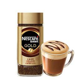 【易购】雀巢 金牌GOLD 瑞士原装进口 进口速溶咖啡100g/瓶 新老商品交替发货
