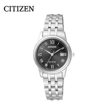 【易购】西铁城(CITIZEN)手表 光动能黑盘不锈钢时尚表带女表 EW2310-59E