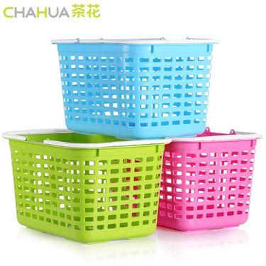 【易购】茶花(CHAHUA) 塑料收纳筐1112手提篮收纳篮大号沐浴篮 颜色随机 颜色随机