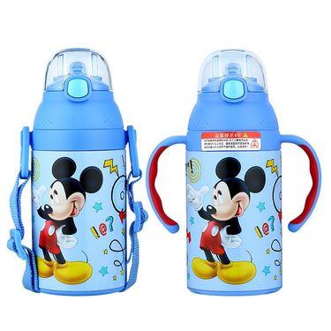 Disney/迪士尼 保温杯儿童手柄防喷吸管保温水壶宝宝水杯子背带两用  HC6033M