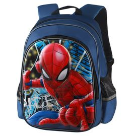 Disney/迪士尼 书包小学生男童1-3年级蜘蛛侠男孩儿童双肩背包  BA5182B  蓝色