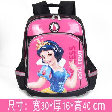 Disney/迪士尼 书包男小学生1-3-5年级女童可爱卡通减负双肩儿童背包男孩 96200 玫红色