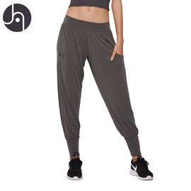 jambeau 哈伦裤女士运动休闲跑步卫裤莫代尔透气显瘦百搭束脚裤瑜伽裤宽松小脚健身裤