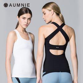 aumnie 澳弥尼丨女运动瑜伽服健身跑步塑形防震美背含胸垫韵律背心