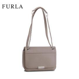 FURLA Deliziosa系列女士皮质链条单肩包 褐色 洲际速买