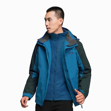 Polar Fire 极地火户外冲锋衣男士加绒加厚三合一可拆外套冬季防风衣登山服CY113
