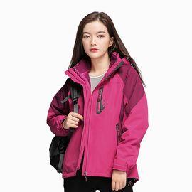 Polar Fire 极地火户外冲锋衣女士加绒加厚三合一可拆外套冬季防风衣登山 服CY208