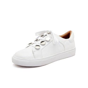 DK UGG 【澳洲直邮】DK SheepskinDK602春夏款清新厚底单鞋牛皮休闲小白鞋子女款百搭时尚女鞋